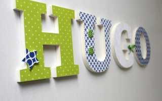 Декоративные буквы на стену: подборка фото