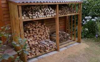 Дровница своими руками — из дерева, металла, труб и другие проекты