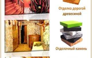 Отделка бани внутри — фото подборка интересных вариантов