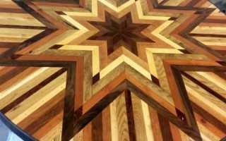 Столешница из деревянной мозаики: примеры изготовления на фото