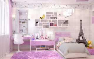 Комната в стиле Париж для девочки: идеи оформления на фото