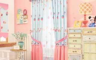 Шторы в детскую комнату для девочки: отличные варианты на фото
