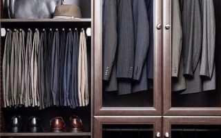 Мужской шкаф для одежды: примеры хранения на фото