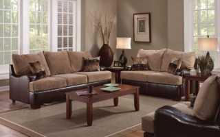 Какой ковер подходит к коричневому дивану: советы дизайнеров на фото
