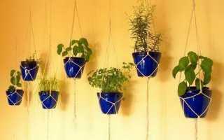 Как можно подвесить цветочный горшок: примеры на фото
